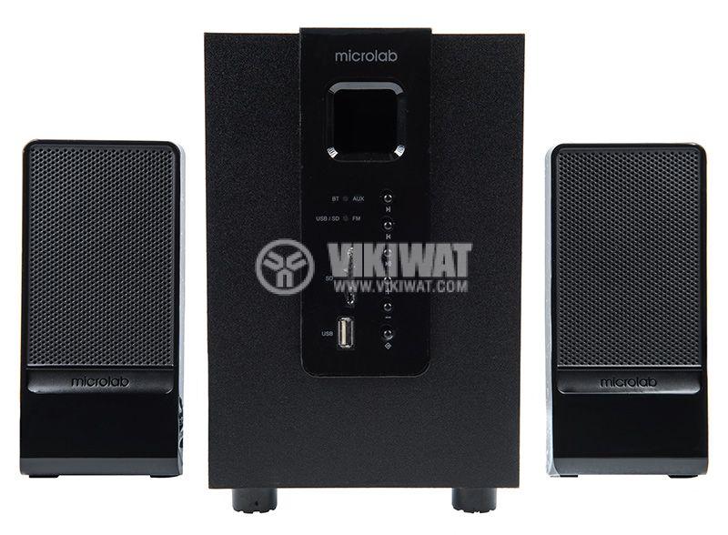 Speakers 2.1, MICROLAB M-100BT, 10W, USB PORT, SD Slot, FM TUNER, Bluetooth 4.0 - 1