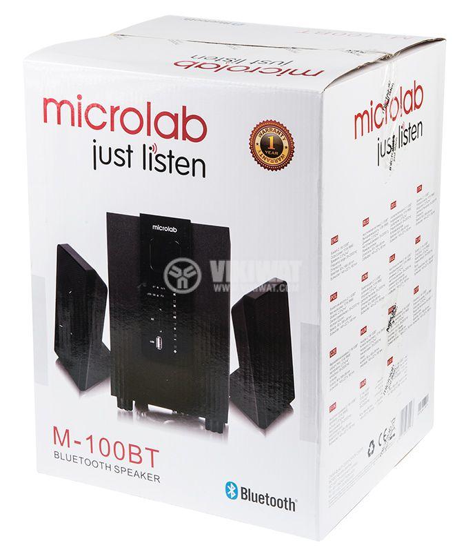 Speakers 2.1, MICROLAB M-100BT, 10W, USB PORT, SD Slot, FM TUNER, Bluetooth 4.0 - 2