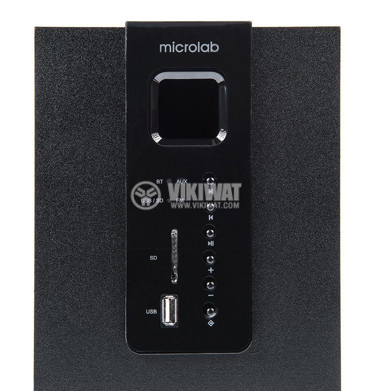 Speakers 2.1, MICROLAB M-100BT, 10W, USB PORT, SD Slot, FM TUNER, Bluetooth 4.0 - 3