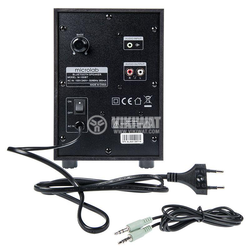 Speakers 2.1, MICROLAB M-100BT, 10W, USB PORT, SD Slot, FM TUNER, Bluetooth 4.0 - 5