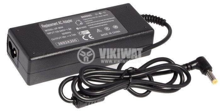 Laptop adapter for ACER, UP-90W, 220VAC - 19VDC, 4.74A, stabilized - 1