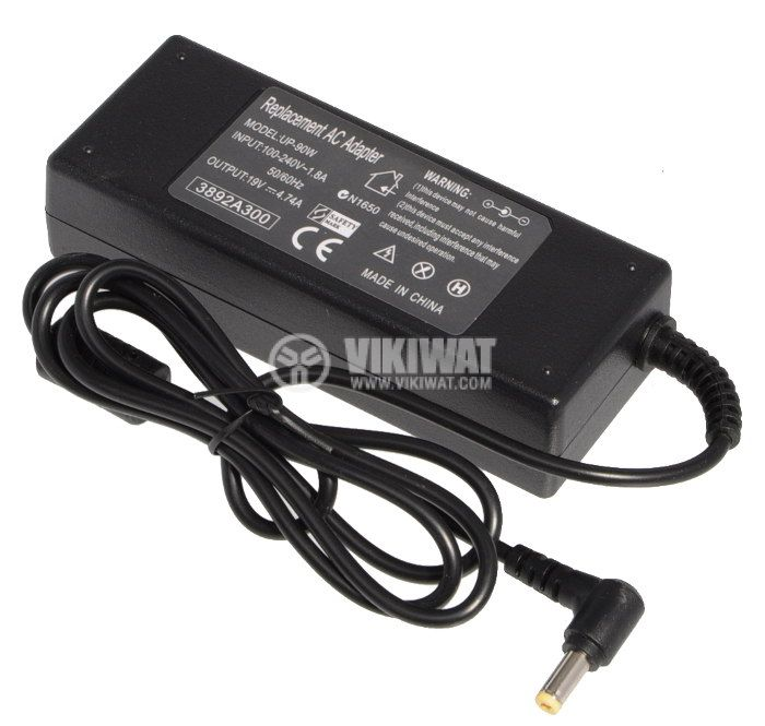 Laptop adapter for ACER, UP-90W, 220VAC - 19VDC, 4.74A, stabilized - 2
