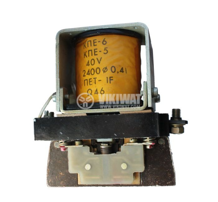 Contactor, one-pоle, coil 80VDC, SPST - NO, 100A, КПЕ-5, NO+NC - 1