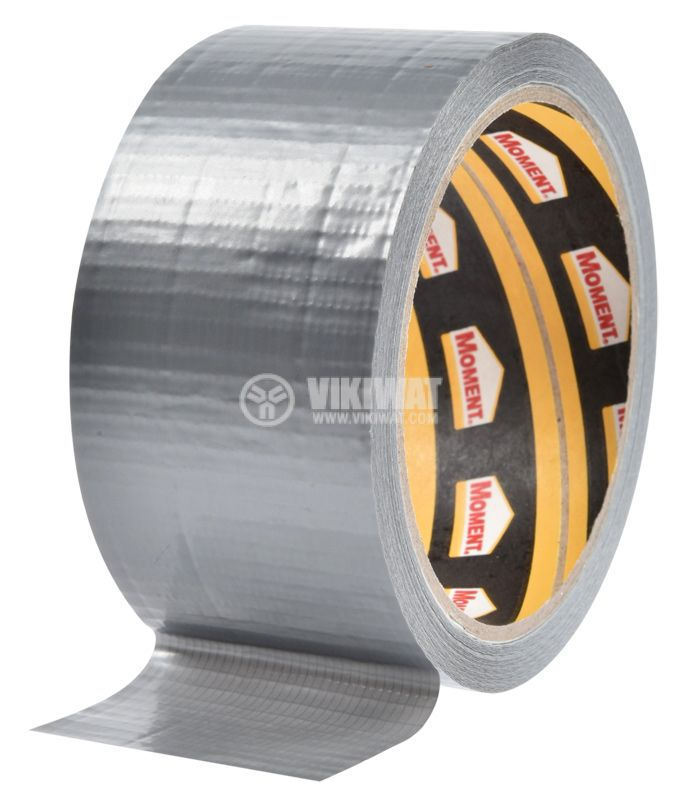 Adhesive tape, universal, reinforced, silver, 50mm x 10m - 1