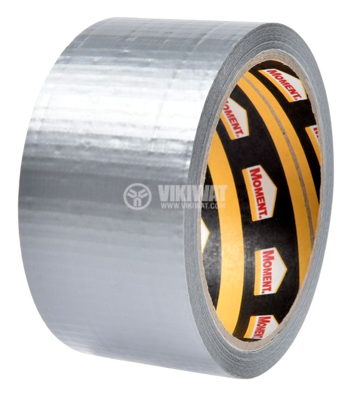 Adhesive tape, universal, reinforced, silver, 50mm x 10m - 2