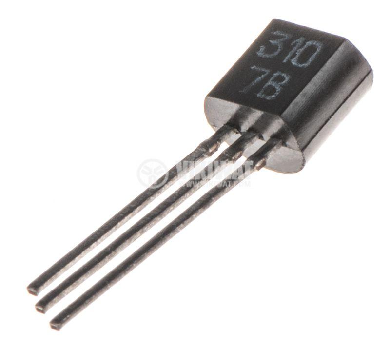 Транзистор КT3107B, PNP, 25 V, 0.1 A, 0.3 W, TO-92