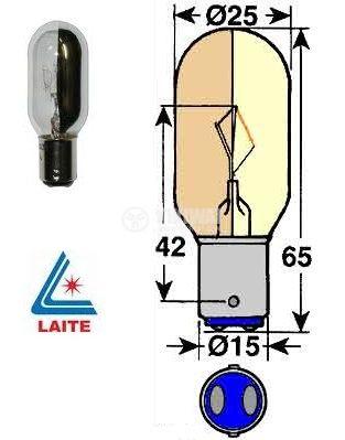 Лампа LT05071 220V, 30W, BA15D, за микроскоп