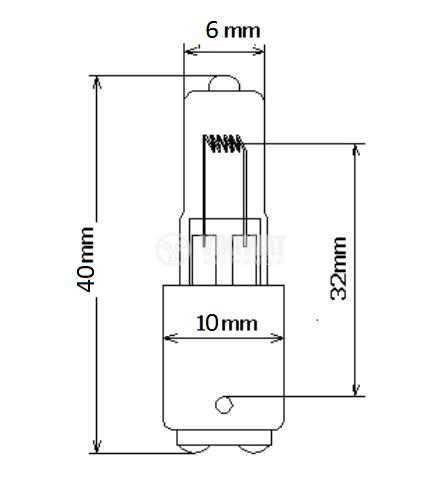 Halogen Lamp BA15D, 24VDC, 50W - 2