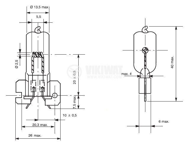 Халогенна ампула LT03108 24V, 120W,  X-514, медицинска лампа - 2