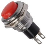 Button Switch, OFF - (ON), hole ф12, 1.5A/250VAC, SPST
