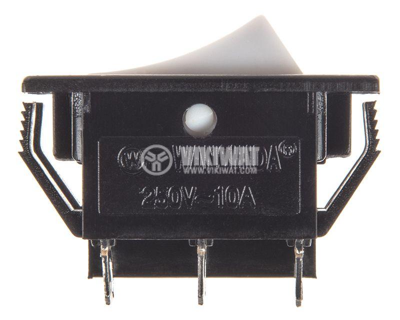 Rocker превключвател, 2 позиции, ON-ON, 10A/250VAC, отвор 28x18mm - 2