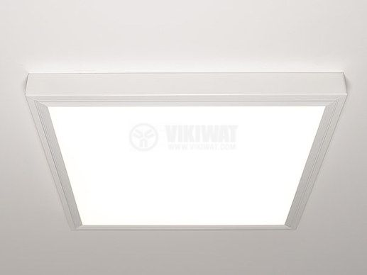 LED panel 50W, square, 220VAC, 4000lm, 4200K, neutral white, 600x600mm, surface mounting, BP21-06610 - 6