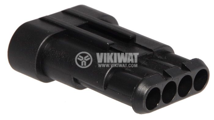 Connector AMP-0-0282106-1, 4 pins, 24VDC, IP67 - 3