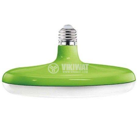 LED лампа 24W, E27, 1900lm, 3000K, топло бяла, BB01-52420, зелен корпус - 2