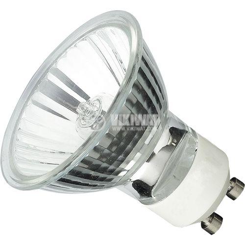 Халогенна лампа ZE0402, GU10, 230 VAC, 40 W, 2700 K, закрита, бяла