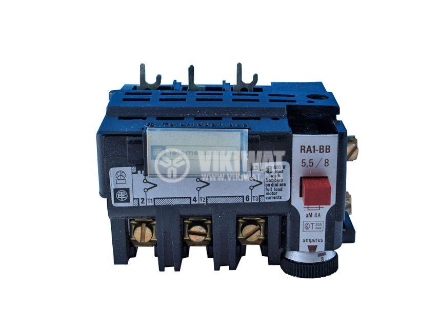 Thermal relay, RA1-116, three-phase, 1-1.6 A, SPST - NC, 1 A, 380 VAC - 1