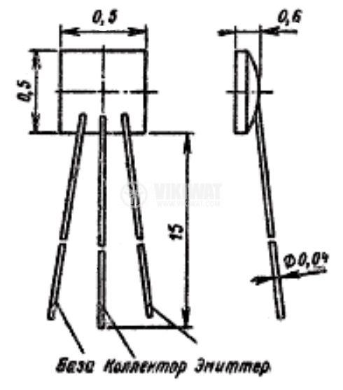 Транзистор 2Т324, PNP, 32 V, 1 A, 550 mW