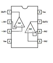 Интегрална схема BA4558/uPC4558, Dual operational amplifier, SOP8 - 2
