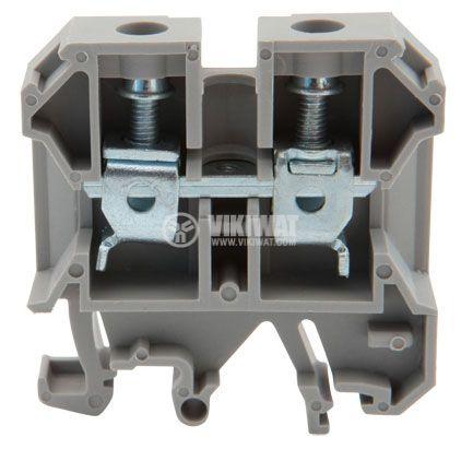 Редова клема, едноредова, JXB-10/35, 10mm2, 57A, 800V, сива - 1