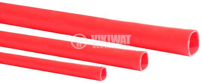Шлаух термосвиваем ф10mm червен