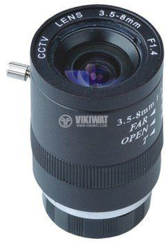 "Vari-Focal Lens 1/3"",3.5-8.0mm, F1.4, SSV0358"
