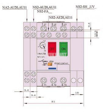 Моторна защита по ток, (АТ00) DZ518-08, трифазна, 2.5-4 A - 8