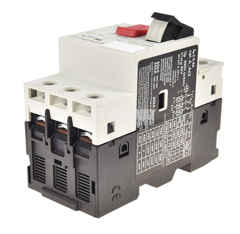 Motor protection circuit breaker GV2-M08, three-phase, 2.5-4 A - 5