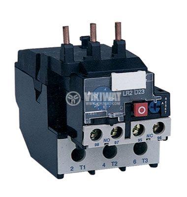 Thermal relay, JRS28-25, three-phase, 1-1.6 A, 2PST - NO+NC, 10 A, 380 VAC - 1