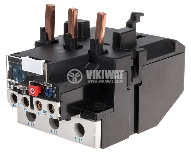 Thermal relay, JRS28-150, three-phase, 80-104 A, 2PST - NO+NC, 10 A, 380 VAC - 1