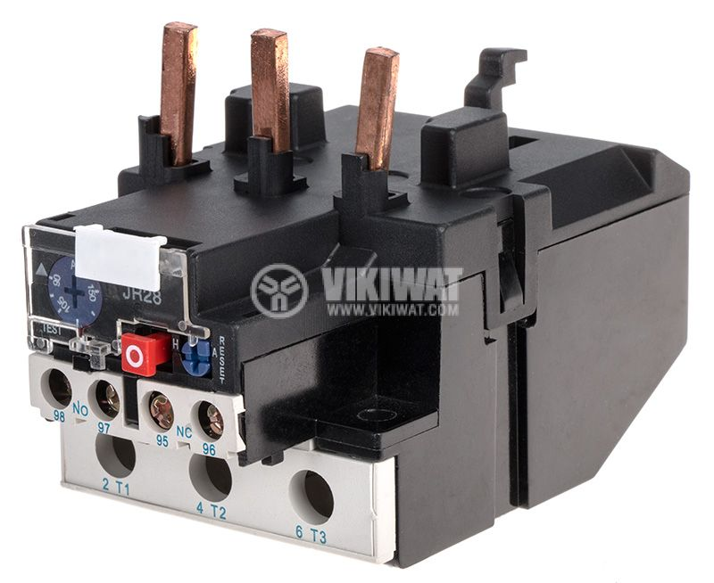 Thermal relay, JRS28-150, three-phase, 90-150 A, 2PST - NO+NC, 10 A, 380 VAC - 1