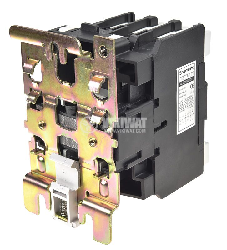 Contactor, three-phase, coil 220VAC, 3PST - 3NO, 50A, CJX2-D50, NO+NC - 3
