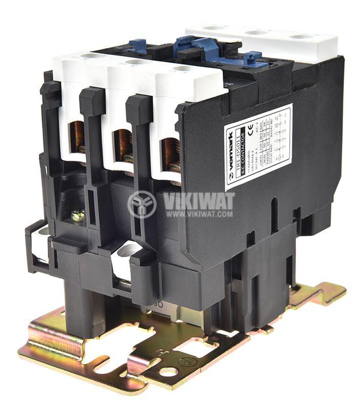Contactor, three-phase, coil 220VAC, 3PST - 3NO, 50A, CJX2-D50, NO+NC - 5
