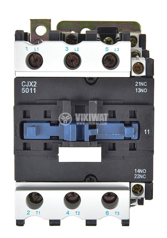 Contactor, three-phase, coil 220VAC, 3PST - 3NO, 50A, CJX2-D50, NO+NC - 1