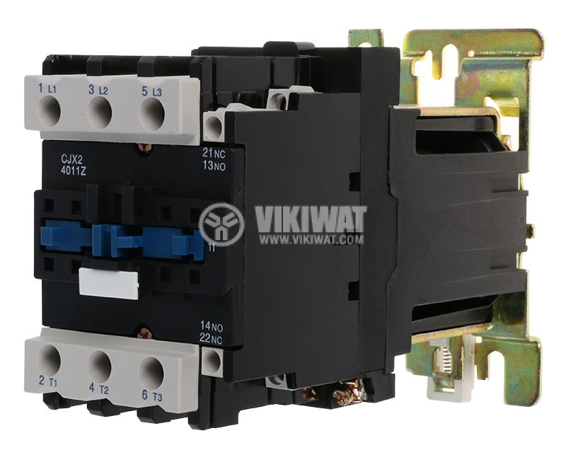 Contactor, three-phase, coil 24VDC, 3PST - 3NO, 40A, CJX2-40Z, NO+NC - 1