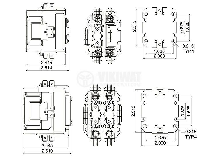 Контактор, еднополюсен, бобина 240VАC, 1PST - 1NO, 40A, CJX9-40/1 - 2