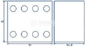 Времезакъснителен блок, LA2-DT2, DPST-NO+NC, 6A/500VAC, 0.1-30s - 2