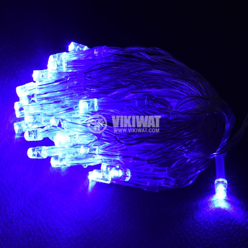 Christmas Decoration Rope Type, 3.7m, blue, AA Batteries, 40 LEDs - 3