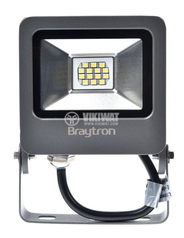 Малък LED прожектор 10W студена светлина 6500K, IP65 за външна употреба Braytron - 1