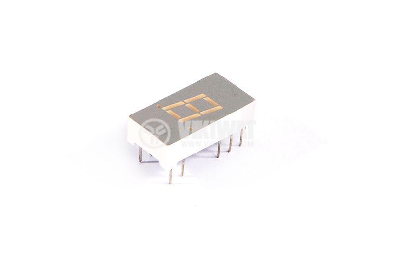LED индикатор, 7-сегментен, общ катод, 8х5mm - 1