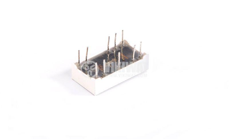 LED индикатор, 7-сегментен, общ катод, 8х5mm - 2