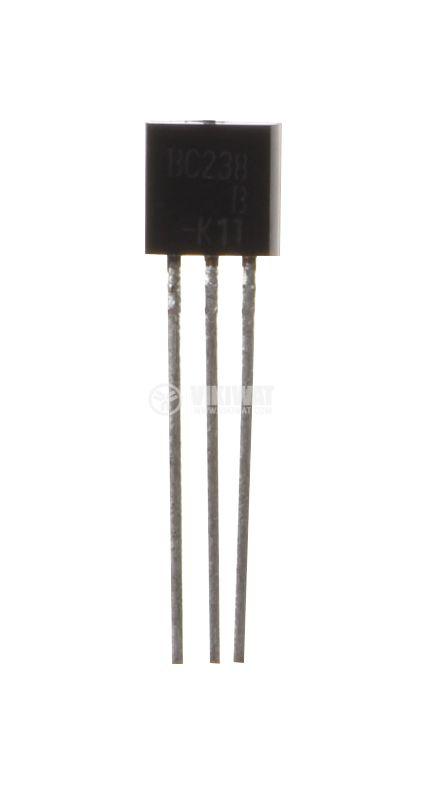 Транзистор BC238, NPN, 30V, 0.1A, 0.35W, 250MHz - 1