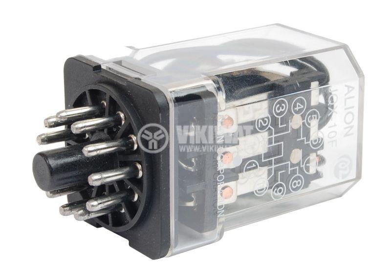 Електромагнитно реле универсално бобина 24VAC 250VAC/10A 3PDT - 3NO+3NC JQX-10F - 1