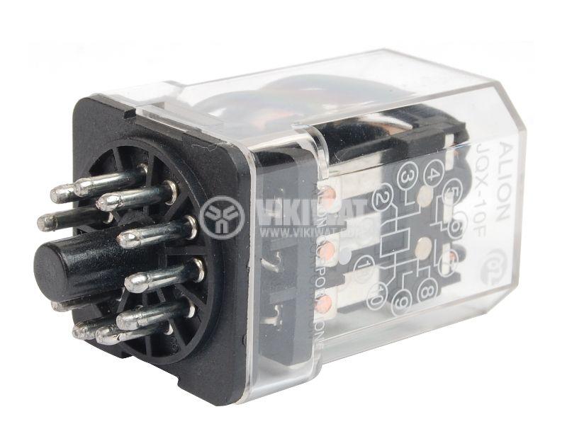 Електромагнитно реле универсално JQX-10F 240VAC 250VAC/10A 3PDT 3NO+3NC - 1