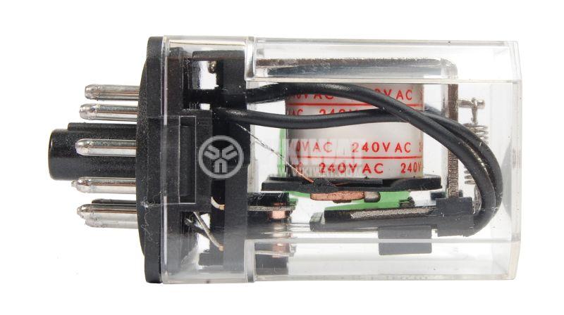 Електромагнитно реле универсално JQX-10F 240VAC 250VAC/10A 3PDT 3NO+3NC - 2