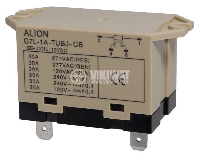 Electromagnetic relays - power 12VDC 220VAC/25A SPST-NO G7L - 1