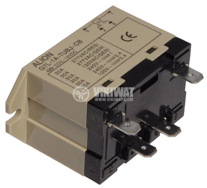 Electromagnetic relays - power 12VDC 220VAC/25A SPST-NO G7L - 2
