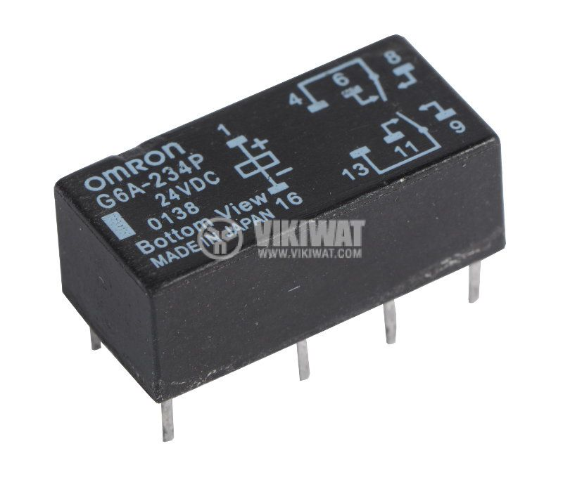 Universal Electromechanical Relay , G6A-234P, 24VDC 250VAC/3A DPDT