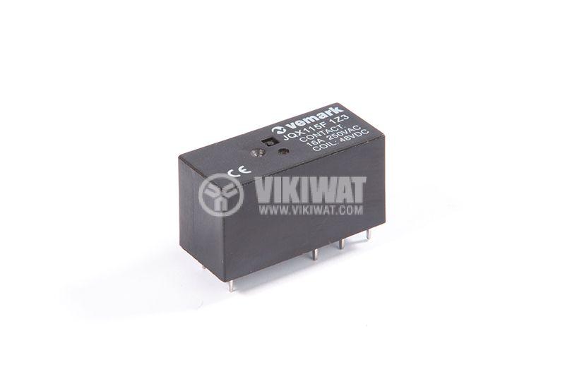 Реле електромагнитно JQX115F 1Z3, 250VAC/16, 2NO+2NC, 48VDC - 1