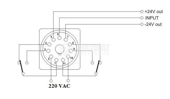 Electronical Impulse Counter, STS-206-04A, 220 VAC, 4 digits, 1- 9999 rpm - 3