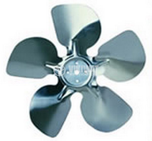 Propeller fan with 5 blades for electric motor for refrigerator 18-37W
